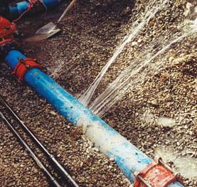 WATER LINE PLUMBING